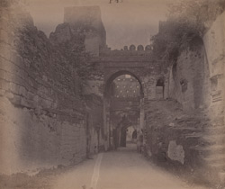 Ancient gateway in Uparkot, Junagadh